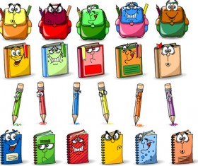 Funny cartoon Stationery Image free vector 01