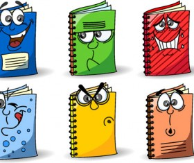 Funny cartoon Stationery Image free vector 02