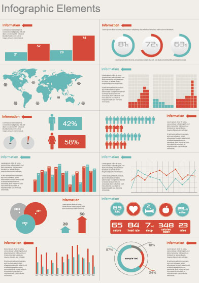 Business Information Data chart vector 02