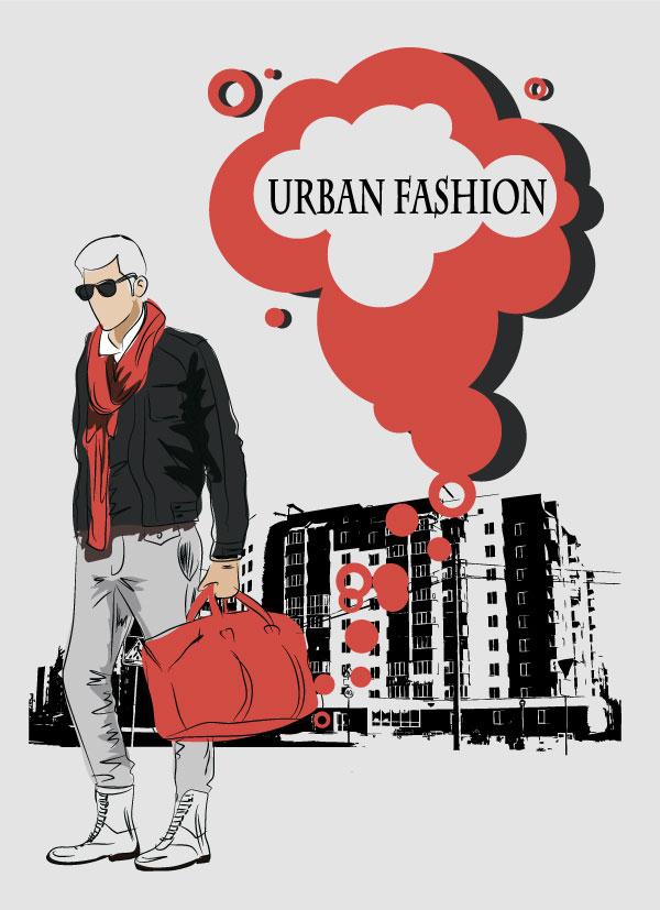 Fashion People Illustration free vector 03