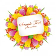 Link toExquisite with flowers free vector 02