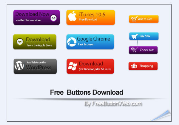 Shopping Cart & Download Button free icon