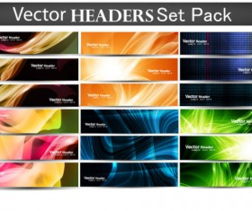 Abstract Fashion vector banner 02
