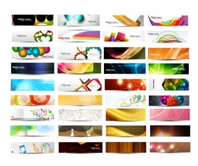 Abstract Fashion vector banner 03