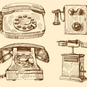 Link toFree vector vintage telephone