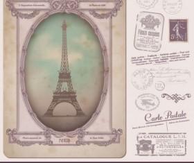 Stamp & Postcard free vector