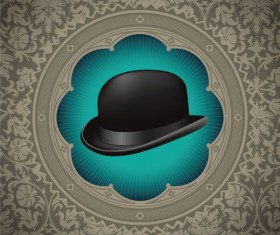 Hat background free vector 02