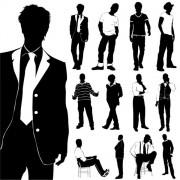 Link toFashion men silhouettes vector