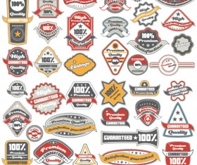 Classic Label stickers 01 free vector