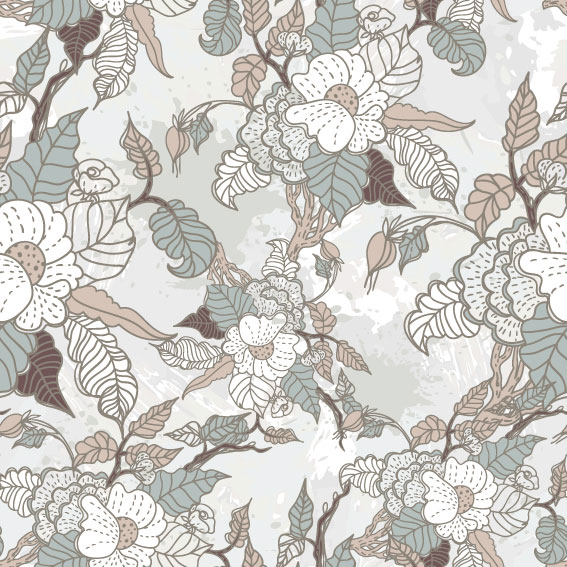 line of draft Flower background vector 05
