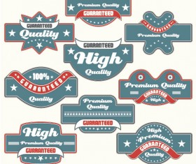 Classic Label stickers 02 free vector