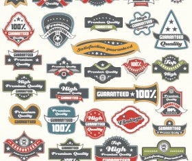 Classic Label stickers 04 free vector