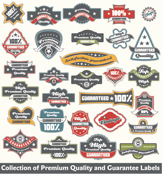 Classic Label Stickers 04 Free Vector Free Download