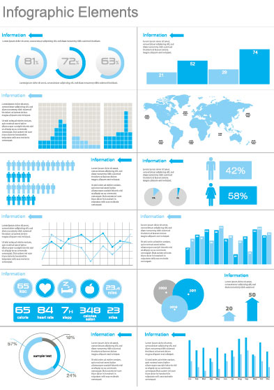 Business Information Data Chart Vector 03 Free Download
