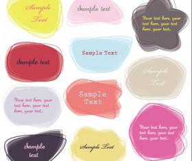 cartoon Cute Labels vector 02