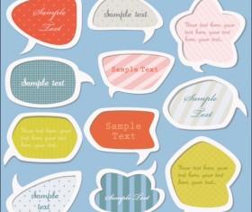 cartoon Cute Labels vector 03