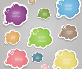 cartoon Cute Labels vector 05