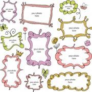 Link toFree vector cartoon cute  borders 01