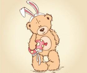 free vector Cute cartoon Little Bear 01