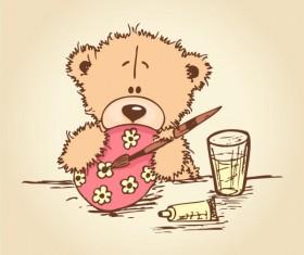 free vector Cute cartoon Little Bear 02