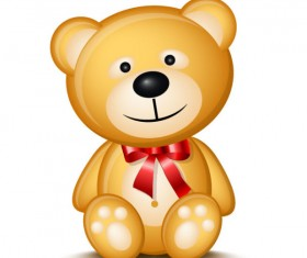Cute Cartoon Teddy bear vector 01