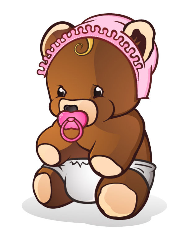 cute cartoon teddy bear vector 02 free download