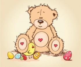 free vector Cute cartoon Little Bear 03