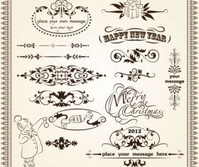 Retro Lacy Borders Set vector 03