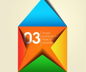 free vector color Origami 02