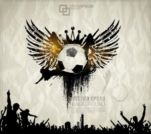 Football theme Poster vector 01