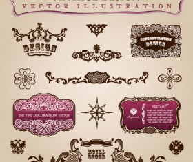 vintage Classic Borders vector 02