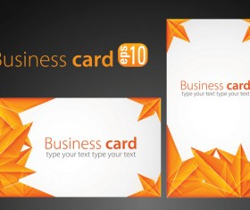 Leaves Business card vector 01