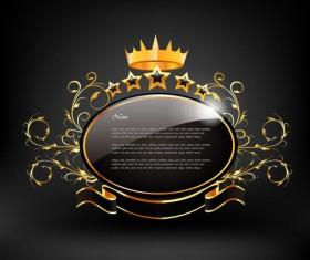 black Style Exquisite Label free vector 02