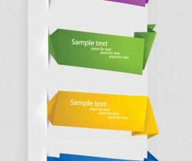 Exquisite Origami Labels vector 01