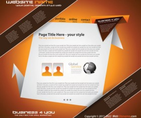 Origami website Style Design vector 02