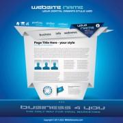 Link toOrigami website style design vector 05