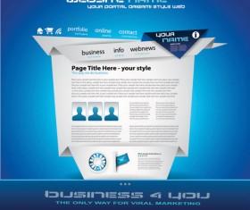 Origami website Style Design vector 05