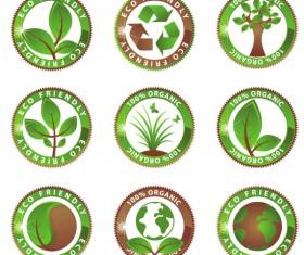 green environmental protection vector icon 02