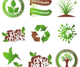 green environmental protection vector icon 03