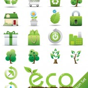 Link toGreen environmental protection vector icon 06
