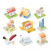 Link toCartoon houses model vector