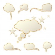 Link toCloud speech bubbles vector