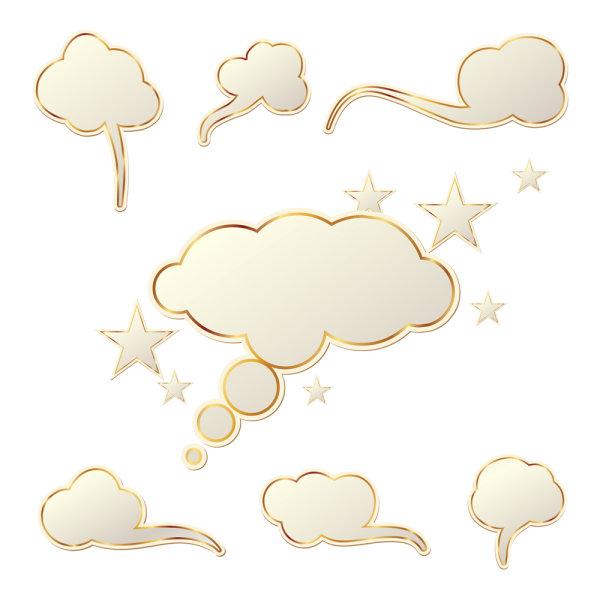 Cloud Speech Bubbles vector