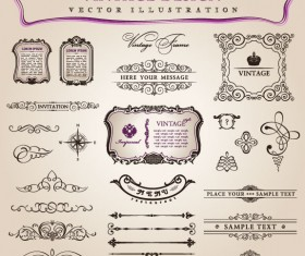 vintage Classic Borders vector 06