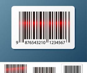Barcode design Elements vector set 01