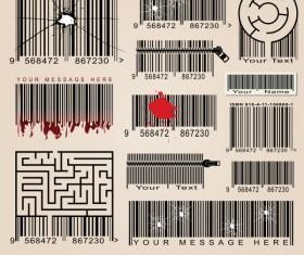 Barcode design Elements vector set 02