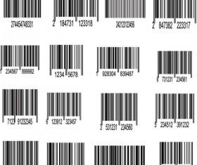 Barcode design Elements vector set 03