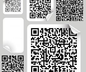 Barcode design Elements vector set 04