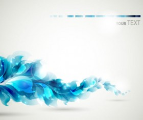 Blue color Lily Flower background Vector 01