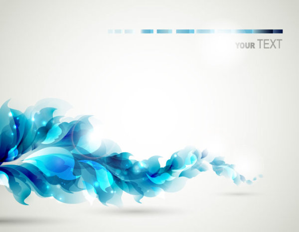 Blue Color Lily Flower Background Vector 01 Free Download